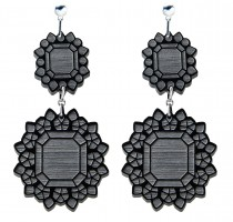 black lucite earrings by possibility