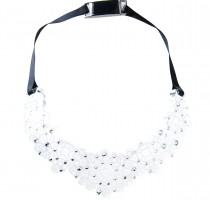 crystal embellished lucite statement necklace